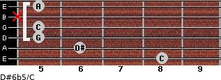 D#6b5/C for guitar on frets 8, 6, 5, 5, x, 5