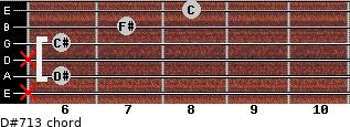 D#-7/13 for guitar on frets x, 6, x, 6, 7, 8