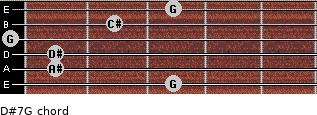 D#7/G for guitar on frets 3, 1, 1, 0, 2, 3