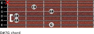 D#7/G for guitar on frets 3, 1, 1, 3, 2, x