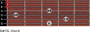 D#7/G for guitar on frets 3, 4, 1, 3, x, x
