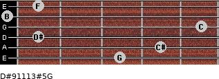 D#9/11/13#5/G for guitar on frets 3, 4, 1, 5, 0, 1