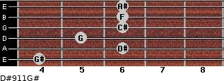 D#9/11/G# for guitar on frets 4, 6, 5, 6, 6, 6