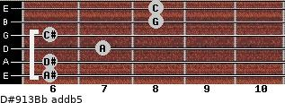 D#9/13/Bb add(b5) guitar chord