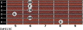 D#9/13/C for guitar on frets 8, 6, 5, 6, 6, 6
