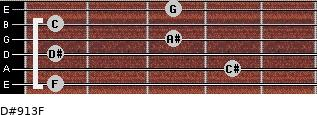 D#9/13/F for guitar on frets 1, 4, 1, 3, 1, 3