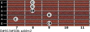 D#9/13#5/Db add(m2) guitar chord
