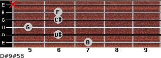 D#9#5/B for guitar on frets 7, 6, 5, 6, 6, x