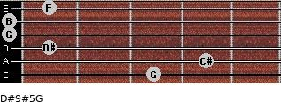 D#9#5/G for guitar on frets 3, 4, 1, 0, 0, 1