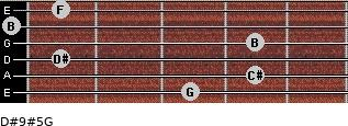 D#9#5/G for guitar on frets 3, 4, 1, 4, 0, 1