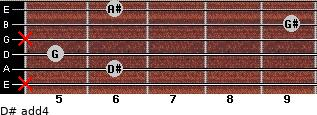 D# add(4) for guitar on frets x, 6, 5, x, 9, 6