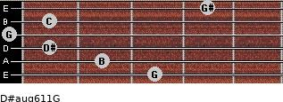 D#aug6/11/G for guitar on frets 3, 2, 1, 0, 1, 4