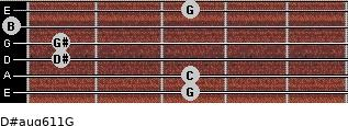 D#aug6/11/G for guitar on frets 3, 3, 1, 1, 0, 3