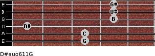 D#aug6/11/G for guitar on frets 3, 3, 1, 4, 4, 4