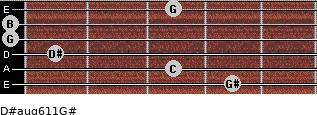 D#aug6/11/G# for guitar on frets 4, 3, 1, 0, 0, 3