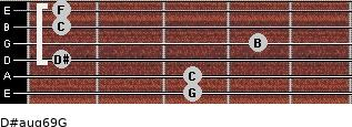 D#aug6/9/G for guitar on frets 3, 3, 1, 4, 1, 1