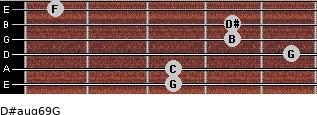 D#aug6/9/G for guitar on frets 3, 3, 5, 4, 4, 1