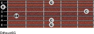 D#aug6/G for guitar on frets 3, 3, 1, 5, 0, 3