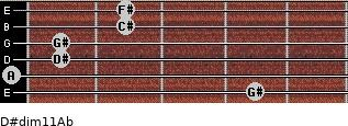 D#dim11/Ab for guitar on frets 4, 0, 1, 1, 2, 2