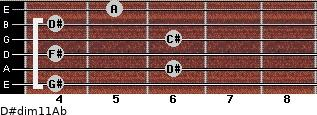 D#dim11/Ab for guitar on frets 4, 6, 4, 6, 4, 5