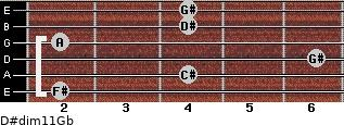 D#dim11/Gb for guitar on frets 2, 4, 6, 2, 4, 4