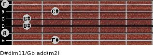 D#dim11/Gb add(m2) guitar chord
