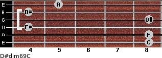 D#dim6/9/C for guitar on frets 8, 8, 4, 8, 4, 5