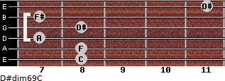 D#dim6/9/C for guitar on frets 8, 8, 7, 8, 7, 11