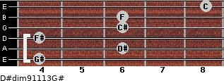 D#dim9/11/13/G# for guitar on frets 4, 6, 4, 6, 6, 8