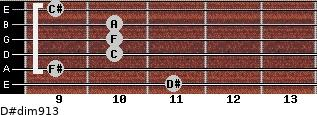 D#dim9/13 for guitar on frets 11, 9, 10, 10, 10, 9