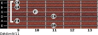 D#dim9/11 for guitar on frets 11, 9, 11, 10, 9, 9