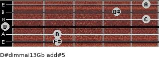 D#dim(maj13)/Gb add(#5) guitar chord