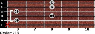 D#dom7/13 for guitar on frets x, 6, 8, 6, 8, 8