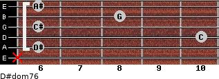 D#dom7/6 for guitar on frets x, 6, 10, 6, 8, 6