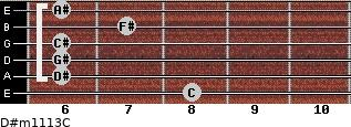 D#m11/13/C for guitar on frets 8, 6, 6, 6, 7, 6