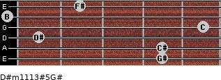 D#m11/13#5/G# for guitar on frets 4, 4, 1, 5, 0, 2
