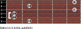 D#m11/13/Gb add(b5) guitar chord