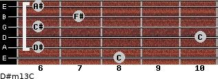 D#m13/C for guitar on frets 8, 6, 10, 6, 7, 6