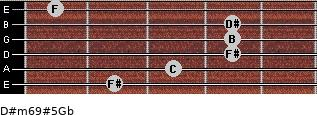 D#m6/9#5/Gb for guitar on frets 2, 3, 4, 4, 4, 1