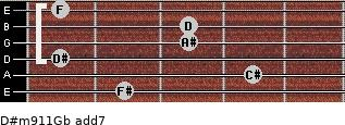 D#m9/11/Gb add(7) guitar chord