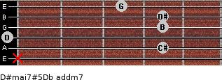 D#maj7#5/Db add(m7) guitar chord