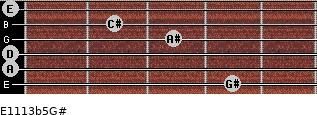 E11/13b5/G# for guitar on frets 4, 0, 0, 3, 2, 0