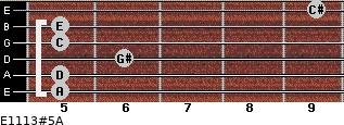 E11/13#5/A for guitar on frets 5, 5, 6, 5, 5, 9