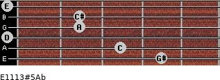 E11/13#5/Ab for guitar on frets 4, 3, 0, 2, 2, 0