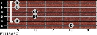 E11/13#5/C for guitar on frets 8, 5, 6, 6, 5, 5