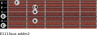 E11/13sus add(m2) guitar chord