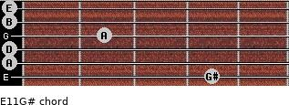 E11/G# for guitar on frets 4, 0, 0, 2, 0, 0