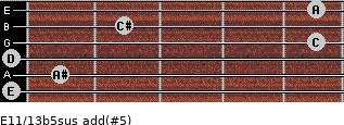 E11/13b5sus add(#5) guitar chord