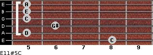 E11#5/C for guitar on frets 8, 5, 6, 5, 5, 5