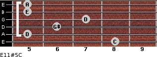 E11#5/C for guitar on frets 8, 5, 6, 7, 5, 5
